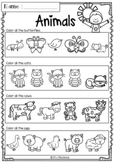 Kindergarten Morning Work Bundle includes 178 worksheet pages. These pages are great for kindergarten and first grade students. Children will practice tracing, writing, sorting, comparing, counting and more. Children are encouraged to use thinking skills First Grade Worksheets, Kindergarten Math Worksheets, Preschool Learning, Preschool Activities, Animal Worksheets, Worksheets For Kids, Kindergarten Morning Work, English Activities, Reading Skills