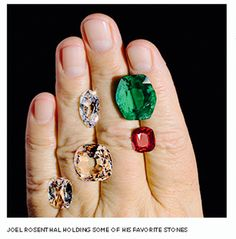 JAR holding some of his favorite stones - from the Jewels by JAR book