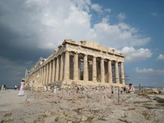 I should find one of my photos from being at the Parthenon in Athens, Greece.