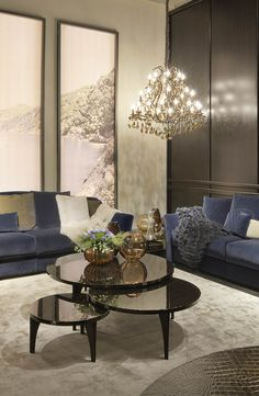 Fendi Casa living room setup for Salone del Mobile 2014, Luxury Living Group
