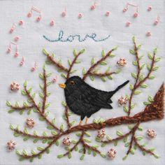 Blackbird Embroidery | Flickr