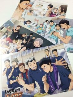 Haikyuu!! Postcards!!(poor Akaashi)
