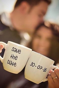 18 Super Save The Date Photo Ideas ❤ See more: http://www.weddingforward.com/save-the-date-photo-ideas/ #wedding #photos #savethedate