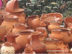 Pottery from México made at Pátzcuaro Lake Región.