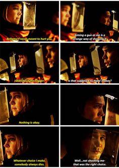 "#The100 4x12 ""The Chosen"" - Clarke and Bellamy"