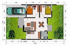 Denah Rumah Dengan Ukuran 8 x 10 Meter