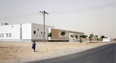 Beautiful Health Center for Poverty-Stricken Sudanese Refugees Cooled With Iranian Ventilation Technique - Sustainable architecture studio, TAMassociati, has just been awarded the coveted Zumtobel Group Awa - Hospital Design, Clinic Design, Alvar Aalto, Seaside Towns, Sustainable Architecture, Terrazzo, Pediatrics, Sustainability, Facade