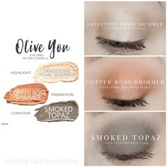 Eyeshadow trio using SeneGence ShadowSense colors in Sandstone Pearl Shimmer, Copper Rose Shimmer and Smoked Topaz. Smudge proof, waterproof, crease-proof, long-lasting eyeshadow. Cream to powder eyeshadow. Cruelty free makeup | Makeup look | Makeup how to | Makeup tutorial | long-lasting makeup | LipSense | LipSense distributor | www.lastinglipsbylindsay.com | Insta @ lastinglips_by_lindsay | Bella | Blackberry | Violet Volt | Candlelight | Mulberry | Onyx | step-by-step eyeshadow look