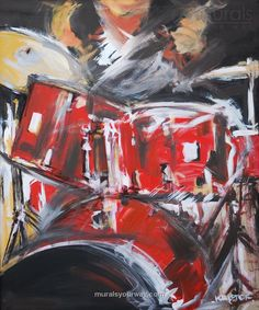 Drummer Mural ~ artist unknown