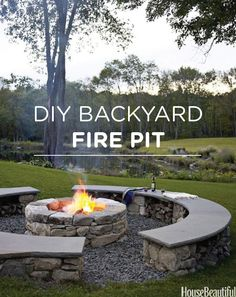 Toast marshmallows this spring with your own DIY backyard fire pit.
