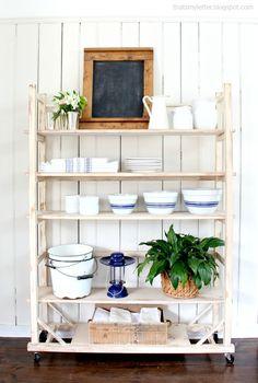 DIY replica vintage shelving free plans