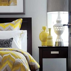 Grey And Yellow Bedroom Fair Like The Use Of Different Shades Of Grey And Yellow  Master Inspiration Design
