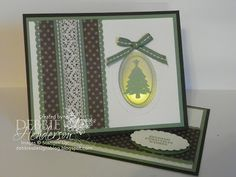 Joyous Celebrations twisted easel card. Stampin' Up! products by Debbie Henderson, Debbie's Designs.