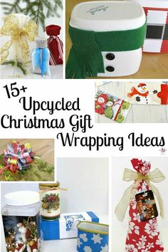 Upcycled Christmas Gift Wrapping Ideas that are earth-friendly, frugal, creative and festive. Wow your family and friends with creative packages. Christmas On A Budget, Christmas Bows, Christmas Gift Wrapping, All Things Christmas, Christmas Crafts, Christmas Ideas, Creative Gift Wrapping, Gift Wrapping Paper, Wrapping Ideas