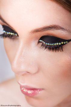 Photography: Alex Coman Photography Model: Madalina Bogeanu _ Victoria Models MUA: Irina Cajvaneanu Make-up #makeup #eyeliner #rhinestones #beauty #photoshoot