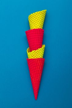 Pink and Yellow hued ice cream cones. (cred: ©Margaux HUG)