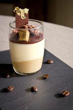 ARMANI RISTORANTE - Tiramisu - Espresso and mascarpone cream with gold touch.  Want a taste? Sample incredible food from the best chefs in the world at Taste of Dubai. Follow us on Facebook for more details www.facebook.com/...