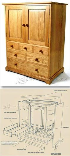 Oak Tallboy Plans - Furniture Plans and Projects | WoodArchivist.com