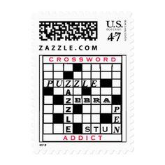 Crossword Addict Postage Stamps Zazzle