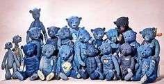 Recycling Old Jeans for Kids Toys and Decorative Accessories in Gorgeous Blue Color