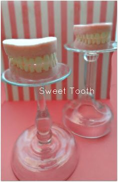 I made these awsome teeth for the dentist but they would be cool for halloween or over the hill birthday parties.