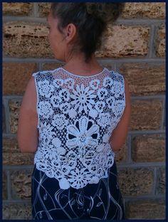 "Первая моя работа, безрукавка ""Фурор"" #gardensstyle Crochet Top, Women, Fashion, Moda, Fashion Styles, Fashion Illustrations, Woman"