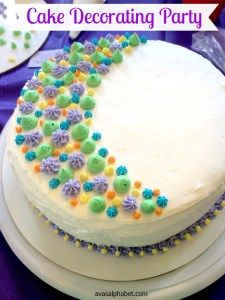 Cake Decorating Party - A super fun and easy way to learn the basics of cake decorating from the comfort of your own home.