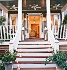Southern Comfort Porch from Cottage Living - Southern Comfort, Southern Living, Southern Charm, Southern Style, Southern Hospitality, Southern Cottage, French Cottage, Cottage Style, Home Porch