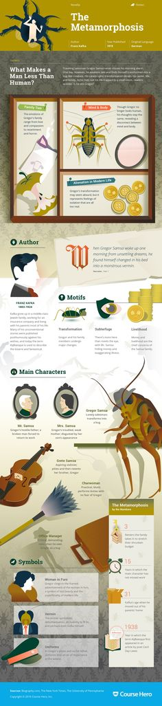 This 'The Metamorphosis' infographic from Course Hero is as awesome as it is helpful. Check it out!