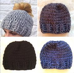 FREE PATTERN! Get your free crochet pattern for my Messy Bun Hat only on Ravelry until December 31st. After that, the price will be $5.