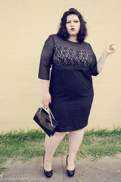 @Danimezza looks amazing in this @Martha Hightower Clements Ribeiro for Evans dress. Love the sultry hair and lips, too!