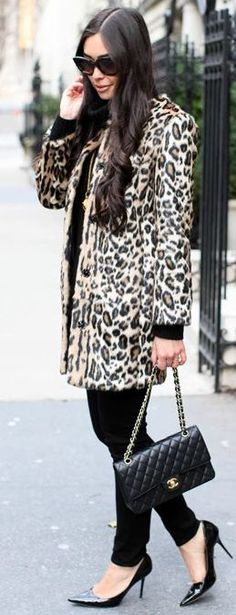 Classic Leopard Coat by With Love From Kat