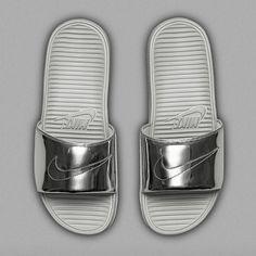 slides | silver | nike
