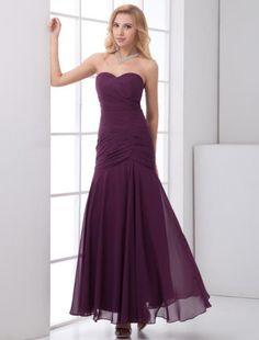 Bridesmaid Dress, Long Dress, Chiffon Dress, Simple Dress, Long Chiffon Dress, Sweetheart Dress