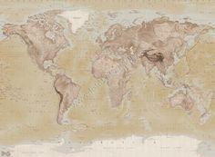http://www.fotobehangen.nl/fotobehang-vintage-wereldkaart.html