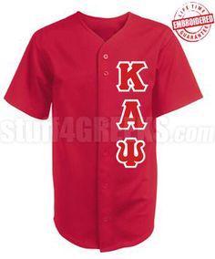 18379fac635 Kappa Alpha Psi Greek Letter Cloth Baseball Jersey
