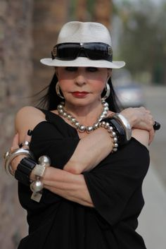 """ADVANCED STYLE-""""I met April through my dear friendColleen, in Palm Springs a few weeks ago. After a lovely lunch we went outside to snap a few pictures. Look forward to some more California street style in the upcoming days!"""""""