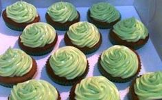 My version of the Green Tea Cupcakes Green Tea Cupcakes, Desserts, Food, Postres, Eten, Meals, Food Deserts, Plated Desserts, Sweets
