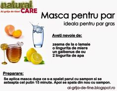 Masca pentru par gras Aerobics Workout, Natural Treatments, Cosmetology, Hair Hacks, Wig Hairstyles, Good To Know, Skin Care Tips, Gym Workouts, Beauty Hacks