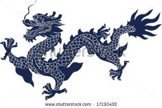 Vector of Chinese Ancient Dragon Pattern