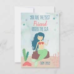 Mermaid Valentines Day Card for Kids Under The Sea valentines printables, valentines diy, valentines dinner #valentinesgift #love #giftsforhim, dried orange slices, yule decorations, scandinavian christmas