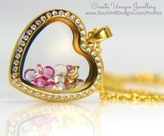 South Hill Designs - Gold Hearts and Pink Ice Cream www.southhilldesigns.com/charmingbyrenee