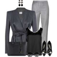 Most Wearable Spring 2014 Fashion Trends – Fashion Style Magazine - Page 29 2014 Fashion Trends, 2014 Trends, Chic Outfits, Fashion Outfits, Womens Fashion, Gray Outfits, Fashion Styles, Work Chic, Spring Trends