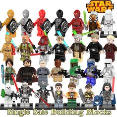 Building Blocks Star Wars C-3PO Jedi Knight Obi-Wan Kenobi Darth Sidious Super Heroes Deadpool diy figures Bricks Kids DIY Toys