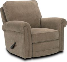 Jasmine Rocker Recliner  The traditional Jasmine Rocker Recliner has everything, including quality upholstery, tailored styling, pleated roll arms with antiqued-brass nailhead trim, and custom options for a personal look. Choose what you want to make this comfortable recliner your favorite seat.