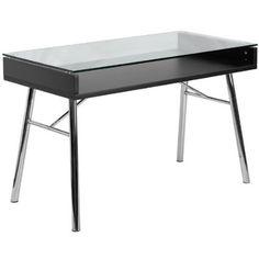 Amazon.com - Flash Furniture Brettford Computer Desk with Tempered Glass Top