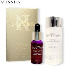 [mini] MISSHA Time Revolution Best Seller Trial Set 2items (The First Treatment Essence [Intensive Moist] 30ml & Night Repair Science Activator Ampoule 10ml)