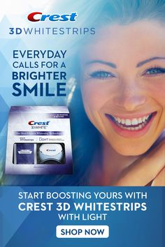 Get a 100% noticeably whiter smile with Crest Whitestrips with Light! It is more effective than using regular whitening strips. Tap the Pin to shop. #brow lift Cleanser For Sensitive Skin, Facial Cleanser, Natural Teeth Whitening, Whitening Kit, Crest Whitestrips, Makeup Over 50, Crest 3d White, Brow Lift, Top Skin Care Products
