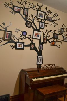 Tutorial on how to make a removable family tree wall decal out of black contact paper.