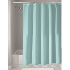 Amazon.com - InterDesign Mildew-Free Water-Repellent Fabric Shower Curtain, 72-Inch by 72-Inch, comes in lots of colours